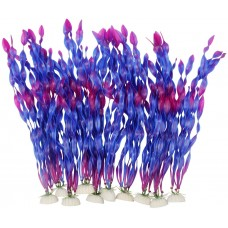 Artificial Seaweed Water Plants for Aquarium, Plastic Fish Tank Plant Decorations 10 PCS (Purple)