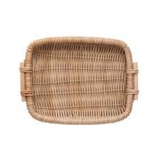 Food Serving Basket, Hand Woven Rattan Bread Basket, Natural Fruit Display Tray