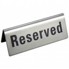 Stainless Steel Reserved Table Sign - Restaurant Wedding Banquet Dining Display