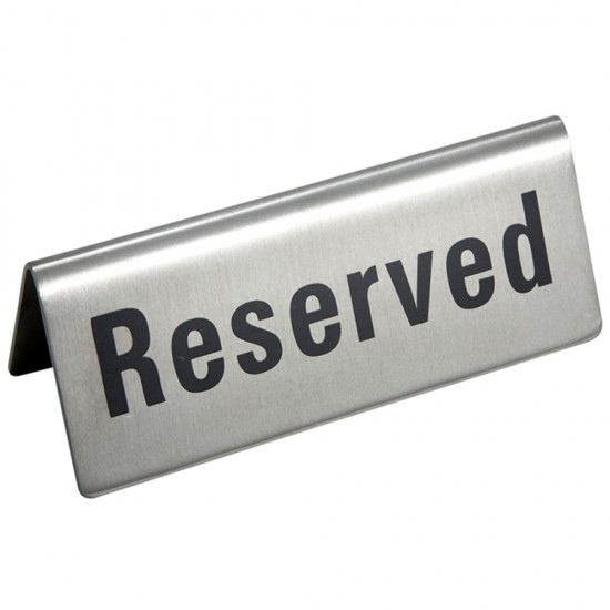 Stainless Steel Reserved Table Sign: MyLifeUNIT: Stainless Steel Reserved Table Sign