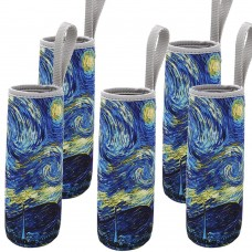 Neoprene Sleeve for 18 oz Glass Water Bottle(Pack of 5) The Starry Night
