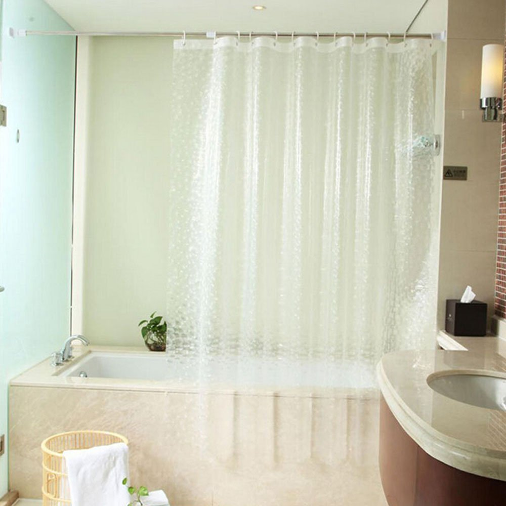 mylifeunit 3d water cube shower curtain clear lazada