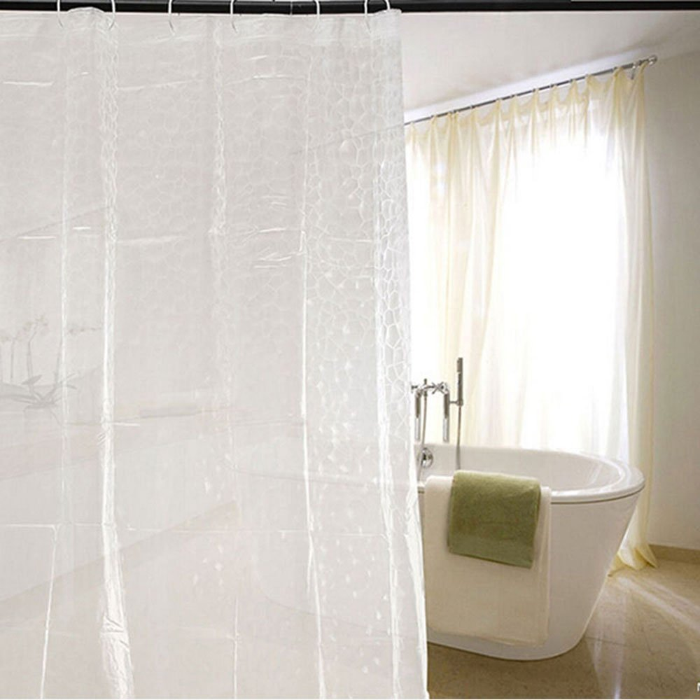MyLifeUNIT 3D Water Cube Shower Curtain Clear Lazada Malaysia