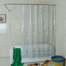 Solid Square Clear Shower Curtain, 72 x 72-Inch