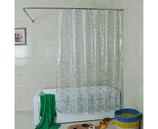 solid square shower curtain 72 x 72 inch clear