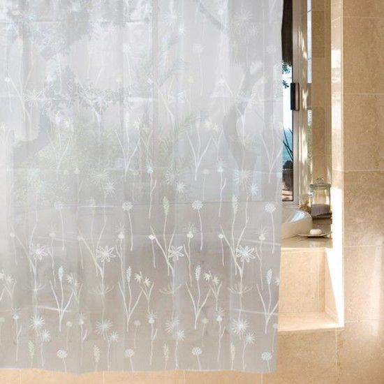 MyLifeUNIT Dandelion Shower Curtains Clear 72 Inch X