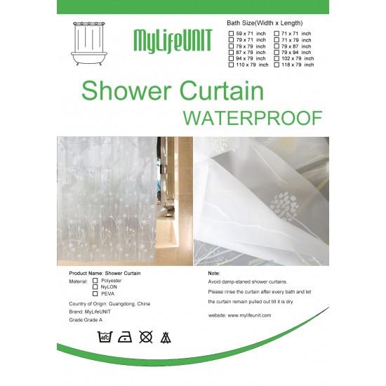 dandelion shower curtains clear 72 inch x 72 inch u2039 u203a