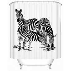 Zebra Shower Curtain Waterproof Shower Curtain, 72 X 72 Inch