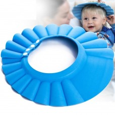 Adjustable Baby Kid Shower Protection Cap Hat Haircut Cap Three Color Option (blue)