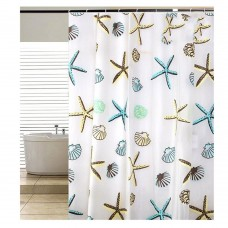 Starfish Waterproof Shower Curtain 70x70 inch