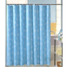 Blue Sea Shell Starfish Waterproof Shower Curtain 70x70 inch