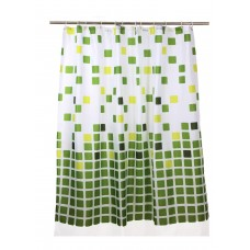 Shower Curtain, Green Mosaic Print Pattern, 70x70 inch