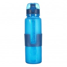 Collapsible Silicone Water Bottle, Leak Proof Foldable Bottle, 22 Oz