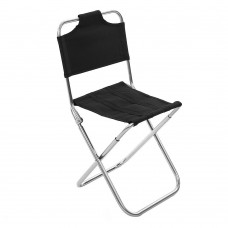 Foldable Camping Chair with Back, Portable Fishing Stool