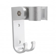 Bathroom Adjustable Aluminum Shower Head 19mm Dia Bracket Wall Mount Shower Bracket with Hanger Hook