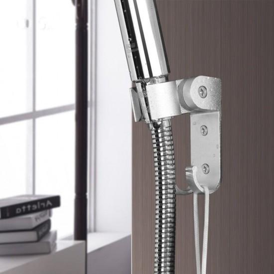 MyLifeUNIT: Bathroom Adjustable Aluminum Shower Head 19mm Dia Bracket Wall  Mount Shower Bracket With Hanger Hook