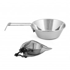 Outdoor Stainless Steel Sierra Cup, Camping Bowl with Folding Handle