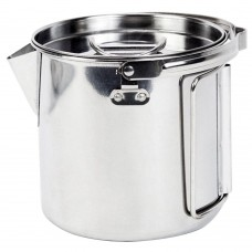 Outdoor Stainless Steel Camping Kettle, Large Portable Hiking Camping Pot with Handle and Lid (40 Ounce) Be the first to review this item