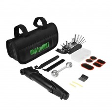 Compact Design 16 in 1 Multi-Function Purpose Bicycle Tire Repair Tool Kits Complete Set with Mini Portable Pump