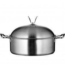 Stainless Steel 4-Quart Chili Stock Pot with Lid
