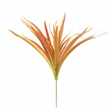 5 Branch Artificial Spider Plant Chlorophytum Faux Greenery Home Decoration (Red)