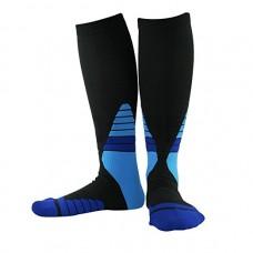 Compress Ski Socks, Elastic Socks for Circulation, Knee High Warm Socks for Men (X-large)