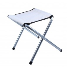 Portable Folding Stool for Outdoor Camp Fishing Travel, 14 Inch Height, Weight Capacity 198 LBS