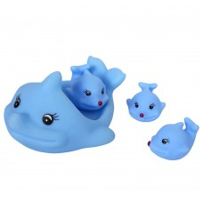 Rubber Dolphin Bath Toy, 1 Big & 3 Small