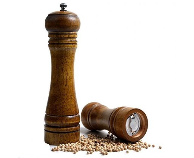 Oak Wood Salt Amp Pepper Grinder Salt Pepper Mill Pepper