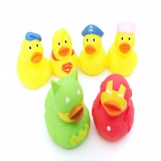3 inch Rubber Ducky Baby Bath Toy, Pack of 6.