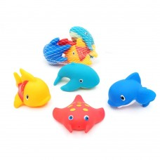 Rubber Water Squirting Ocean Animals Bath Toy for Kids, Pack of 4