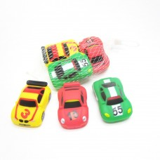 Rubber Race Car 3 Piece Squeeze Bath Tub Toys Set
