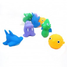 Rubber Squirt Bath Tub Toys Set (4-Pack)