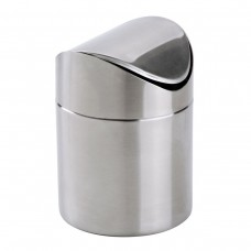 Mini Countertop Trash Can, Brushed Stainless Steel Swing Top Trash Bin 1.5 L/0.40 Gal