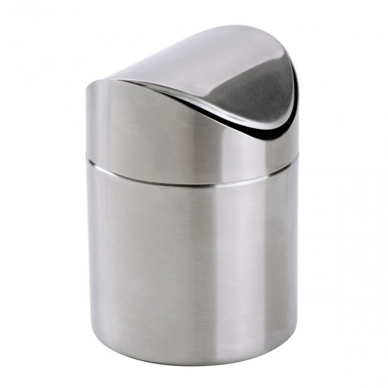 Exceptionnel MyLifeUNIT: Mini Countertop Trash Can, Brushed Stainless Steel Swing Top  Trash Bin 1.5 L/0.40 Gal