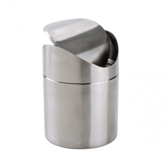 MyLifeUNIT: Mini Countertop Trash Can, Brushed Stainless Steel Swing Top  Trash Bin 1.5 L/0.40 Gal