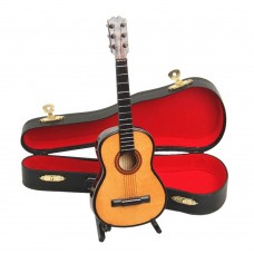 4 Inch Mini Instrument Wood Guitar Decoration