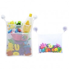 Bath Toy Organizers, Bath toy Mesh Bag, Bathtub Toy Holder for Baby Boys Girls (Set of 2)