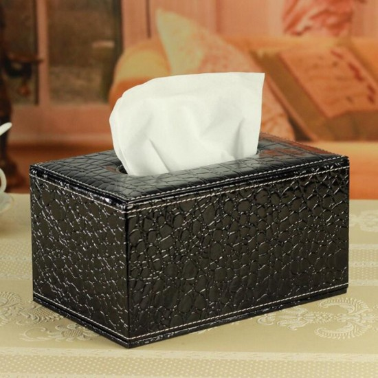 Mylifeunit Pu Leather Square Tissue Cover Box For Holding