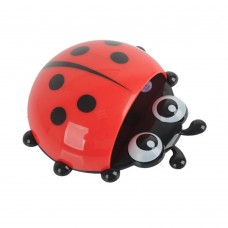 Cute Ladybug Suction Toothbrush Toothpaste Holder Four Color Option (red)