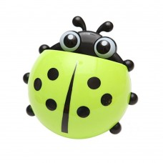 Cute Ladybug Suction Toothbrush Toothpaste Holder Four Color Option (Green)