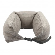 Travel Pillow, Multi-fonction Neck Support Pillow, Washable Cover (Grey)