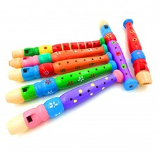 Toy Flute, Wooden Recorder Toy for Kids (Pack of 1, Random Color)