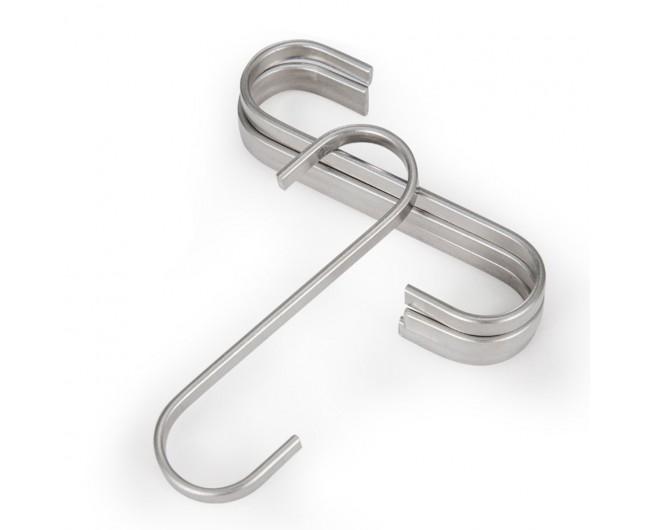 Flat s hooks hanging rail pot pan hanger utensil garage clothes 112mm