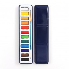 Watercolor Paint Set, 12 Assorted Colors Upgrade Paints with Brush for Artist Drawing Painting