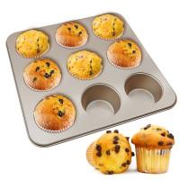 Muffin Pan, Non-stick Cupcake Pan, 9-Cavity