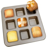 Brownie Pan, Nonstick Mini Loaf Pan for Baking, 11 x 11 x 1.6 Inches