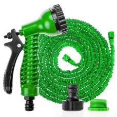 75 Ft /22.5 M Extra Long Magic Expanding Hose Pipe with 7 Speed Spray Gun (Green)