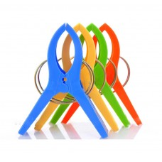 "Set of 4 Beach Towel Clips in Fun Bright Colors - Jumbo Size(5"") - Keep Your Towel From Blowing Away,Clothes Lines"