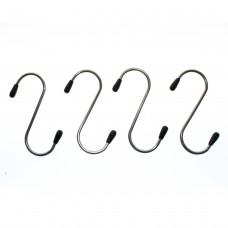 Stainless Steel S-Hooks, 4 Pack